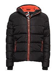 SPORTS PUFFER - BLACK/VERMILLION