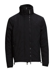 QUILTED POLAR-WINDCHEATER - Black/Ecru
