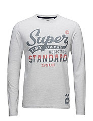 STANDARD ISSUE L/S TEE - ICE MARL