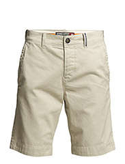COMMODITY CONTRAST-POCKET CHINO SHORT - Stone