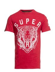 BIG CAT ENTRY TEE - Red marl