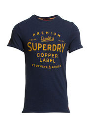 COPPER LABEL MAGNA-S/S PRINT TEE - Deep Indigo Slub Grindle