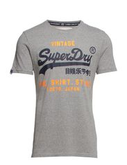 SHIRT STOP LABEL-LINE TEE - Dark Grey Jaspe