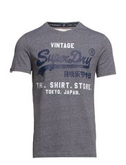 SHIRT STOP LABEL-LINE TEE - Mid Grey Jaspe