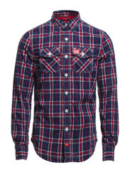 SUPER WASHBASKET-SHIRT - Putney Navy Check
