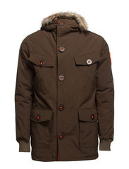MILITARY EVEREST-COAT - Dull Army/Black