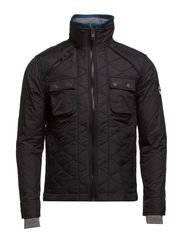 NYLON POLAR QUILT-JACKET - Black