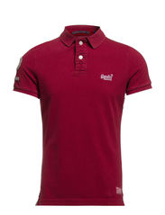 VINTAGE DESTROYED SS-HIT POLO - Deep Ruby