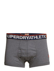 ATHLETIC CORE SHORT - Dark Marl/Navy/Hazard Orange