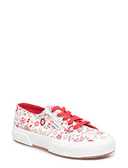Superga 2750 COTFLOWERSJ Flowers - FLOWER PINK/RED