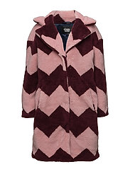 Marble Jacket - WINERED/PINK