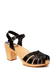 Fredrica - BLACK/NATURE SOLE