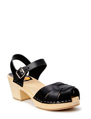 Peep toe High - BLACK/NATURE