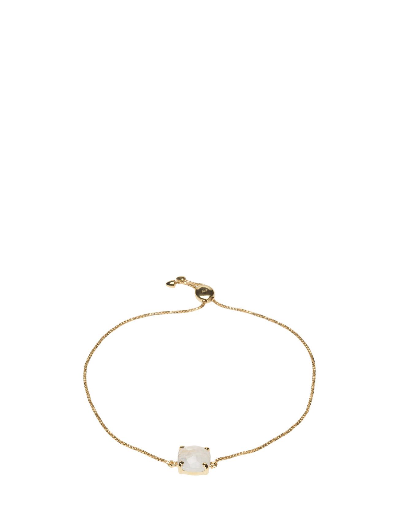 Single Cushion Bracelet Gold Moonstone Syster P Smykker til Kvinder i Guld