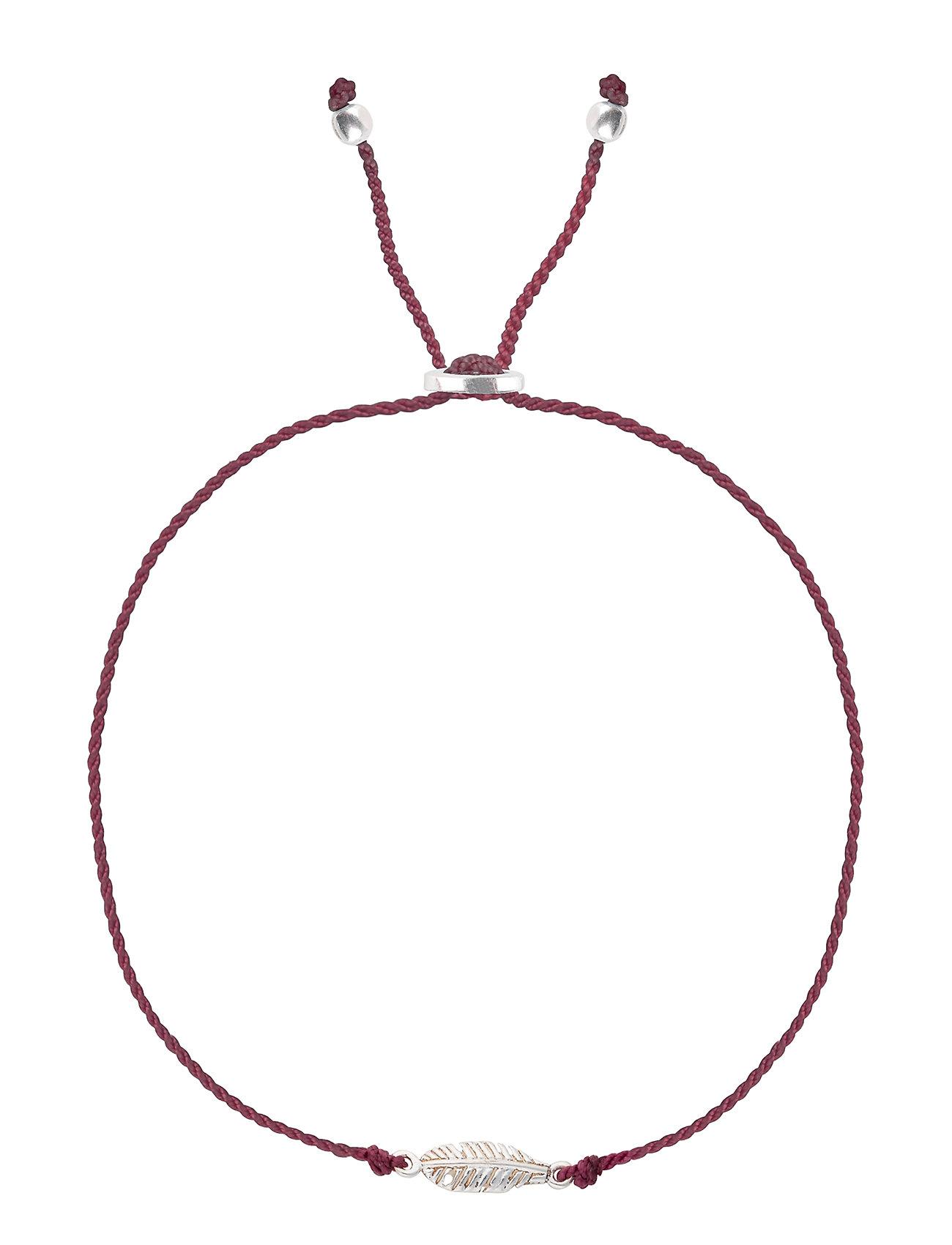 Sparkle Bracelet Feather Silver Grape Syster P Smykker til Kvinder i