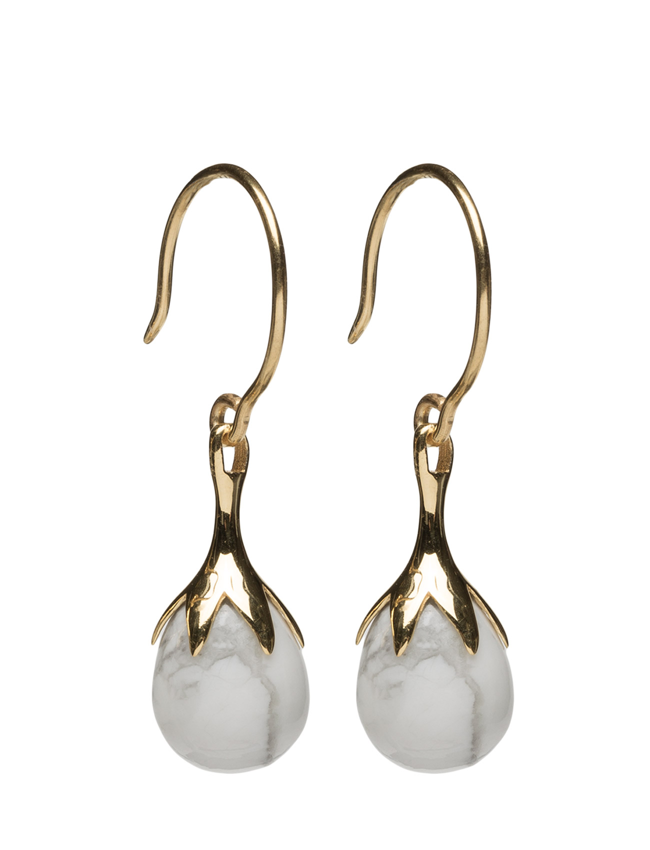 Dripping Earrings Gold Howalite thumbnail