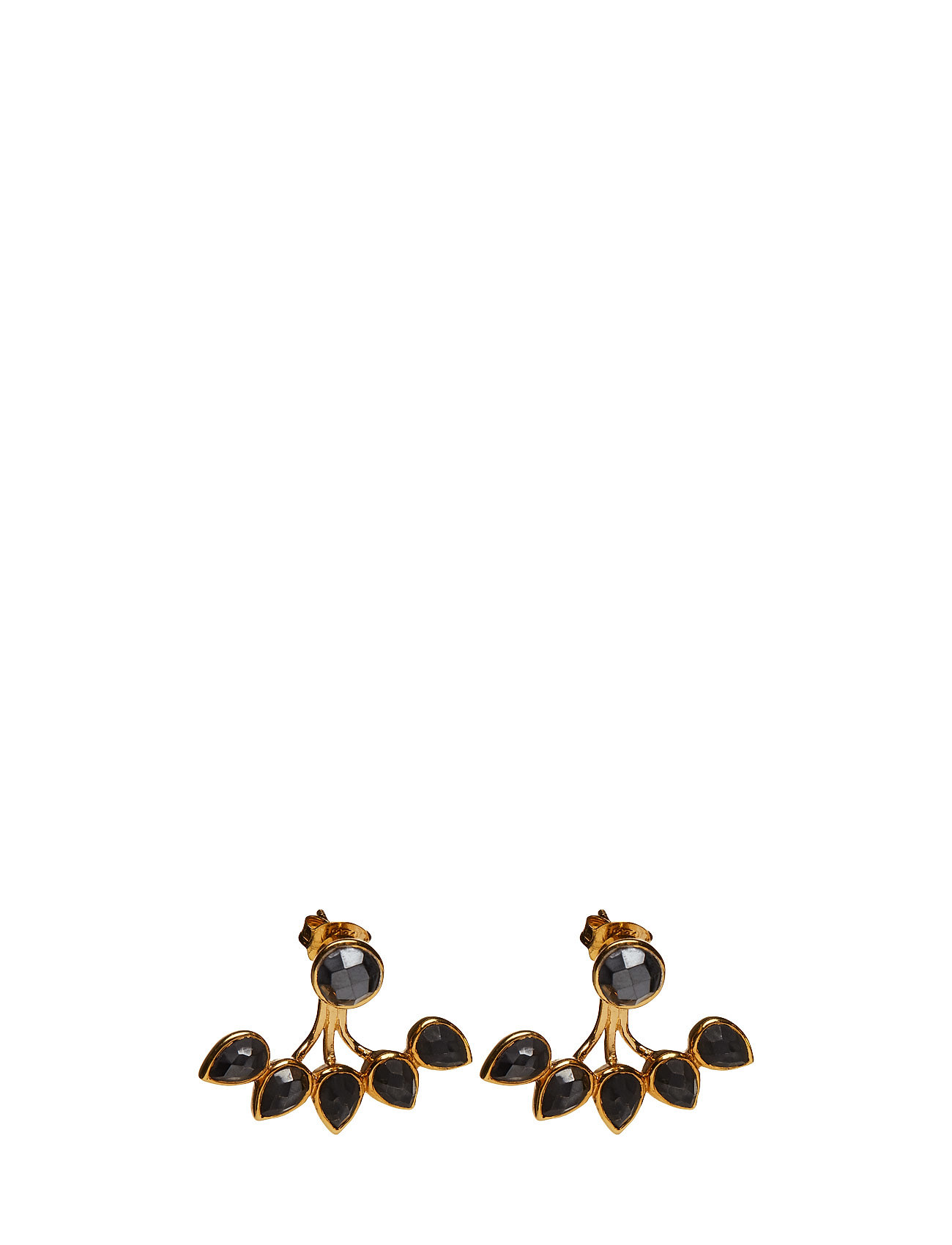 Miss Diva Dropline Earrings Gold Hematite Syster P Accessories til Kvinder i Guld