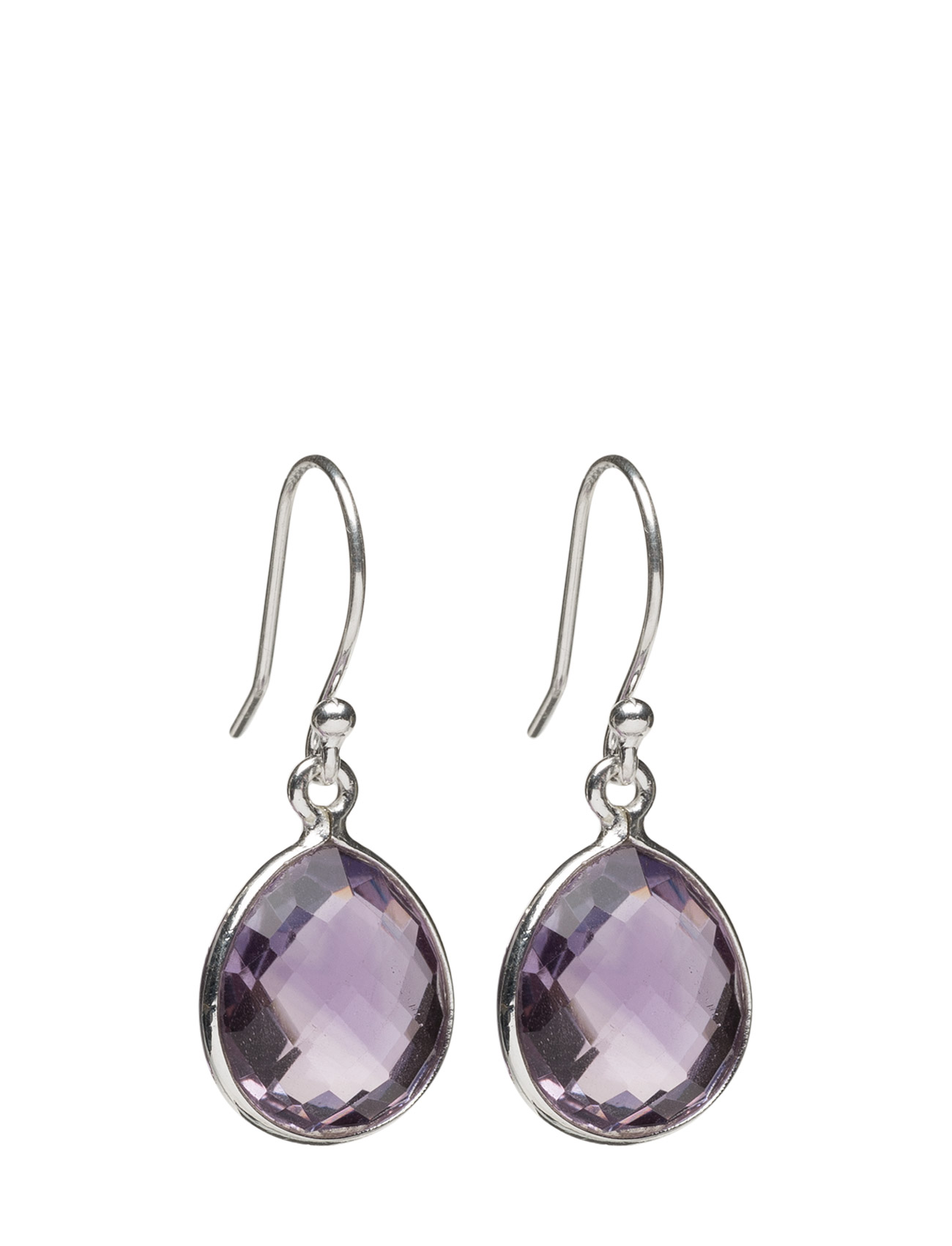 Raindrop Earrings Silver Amethyst Syster P Smykker til Damer i Sølv