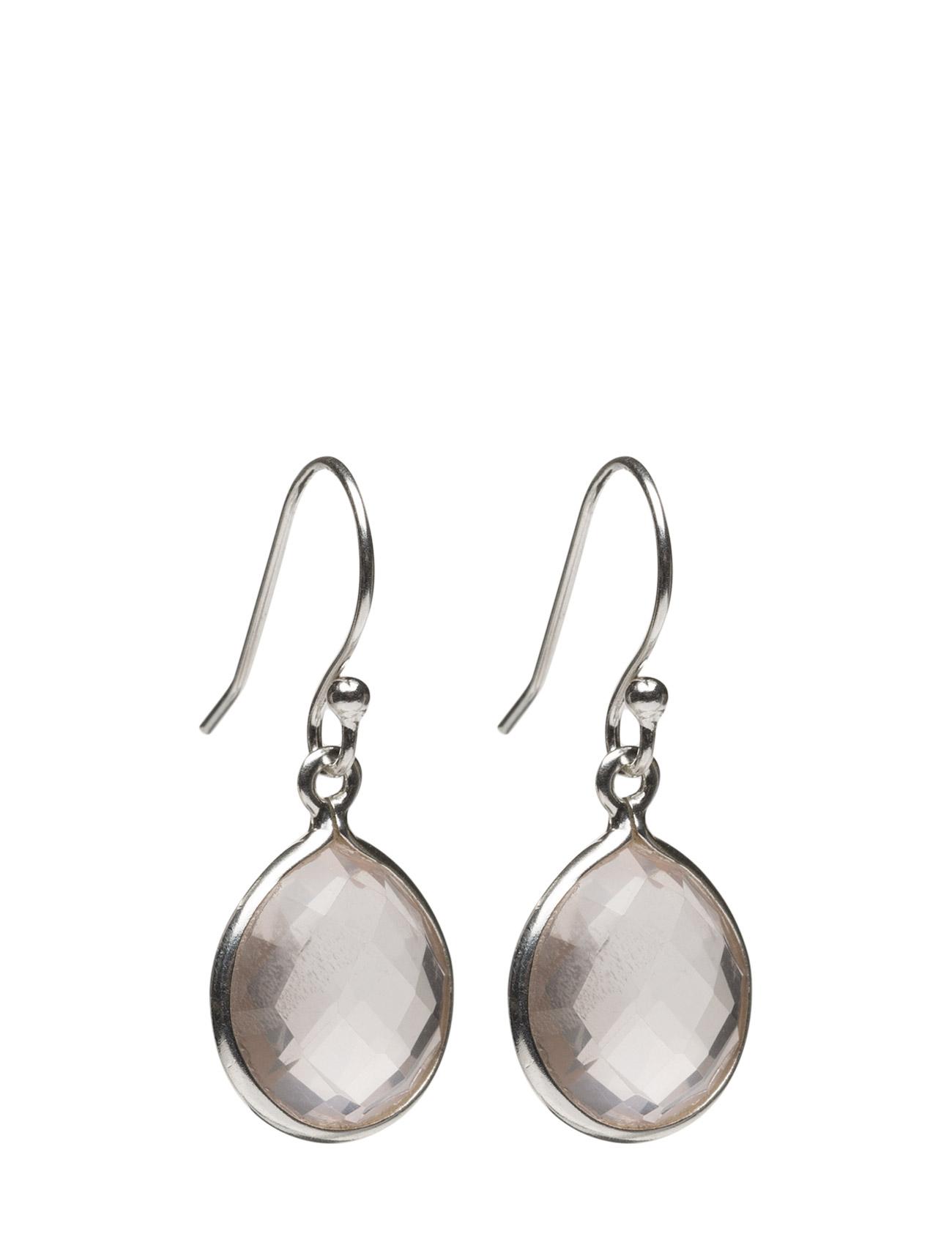 Raindrop Earings Silver Rose Quartz Syster P Smykker til Damer i Sølv