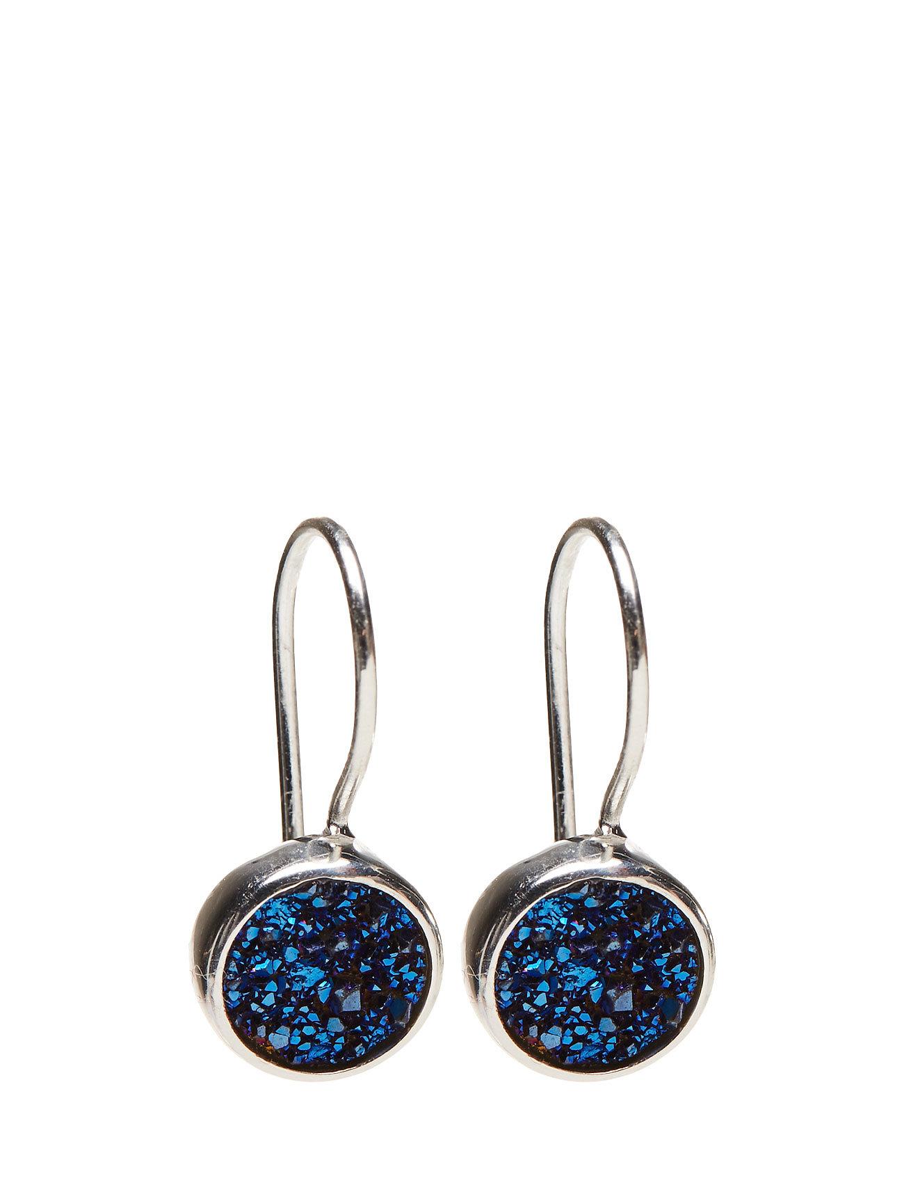 Frances Druzy Earrings Silver Blue Syster P Accessories til Kvinder i