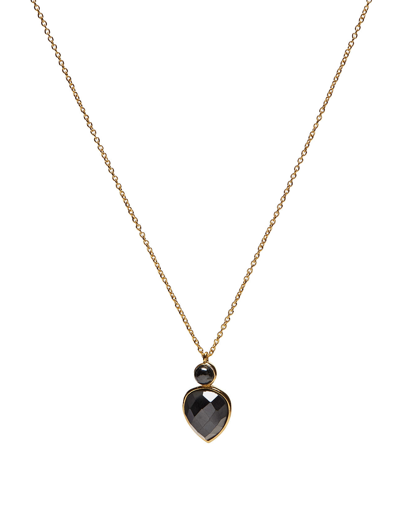 Miss Diva Short Necklace Gold Hematite thumbnail