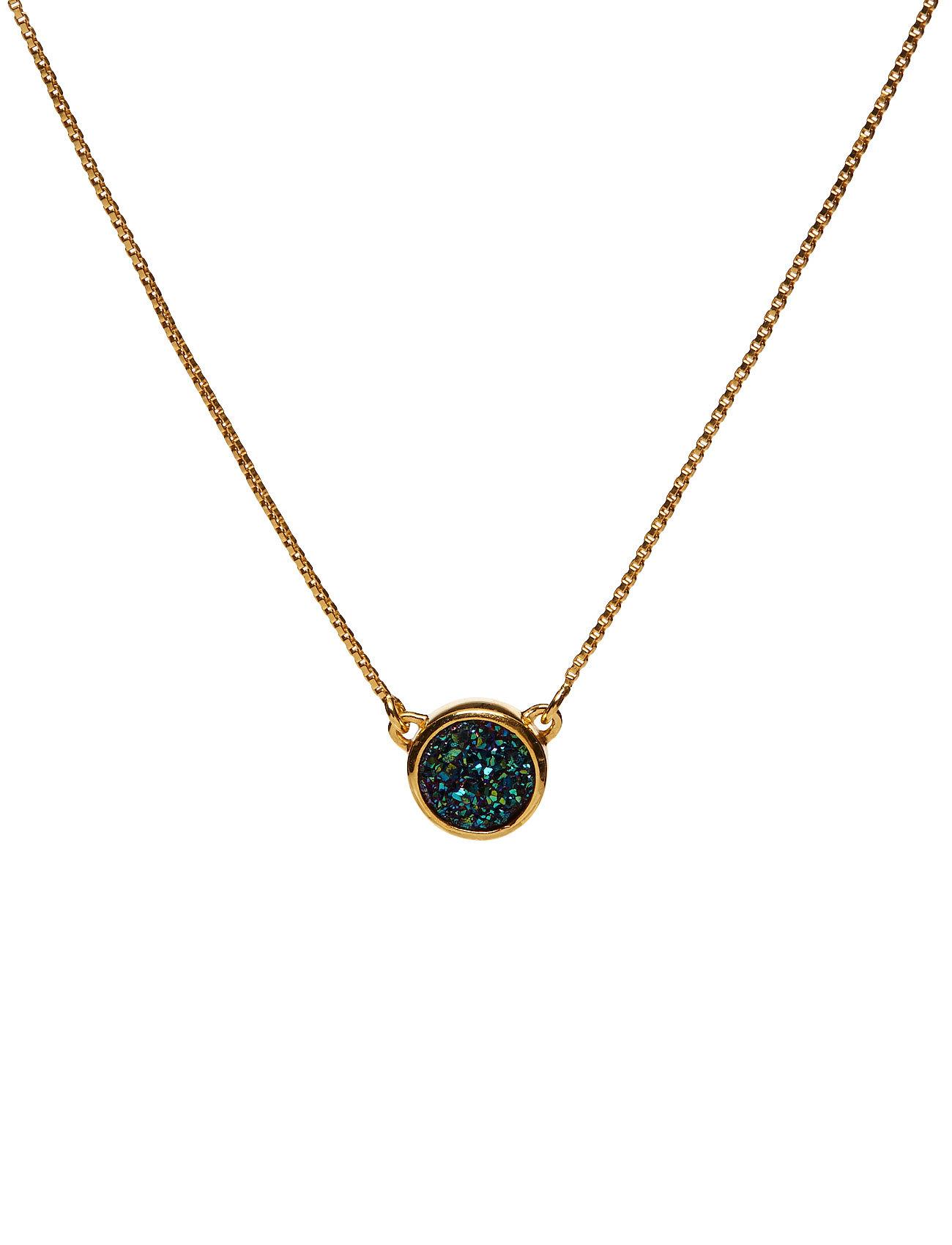 Frances Druzy Necklace Gold Green Syster P Smykker til Damer i Guld