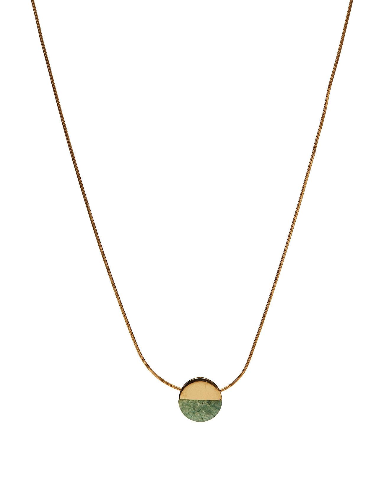 New Dixxi Necklace Green Aventurine Syster P Smykker til Damer i Guld