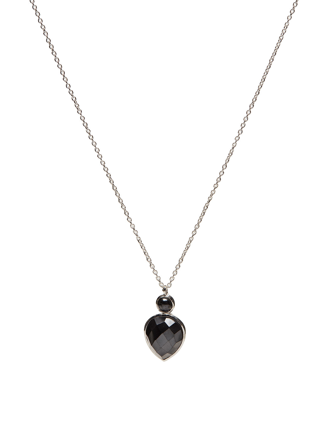 Miss Diva Short Necklace Silver Hematite thumbnail