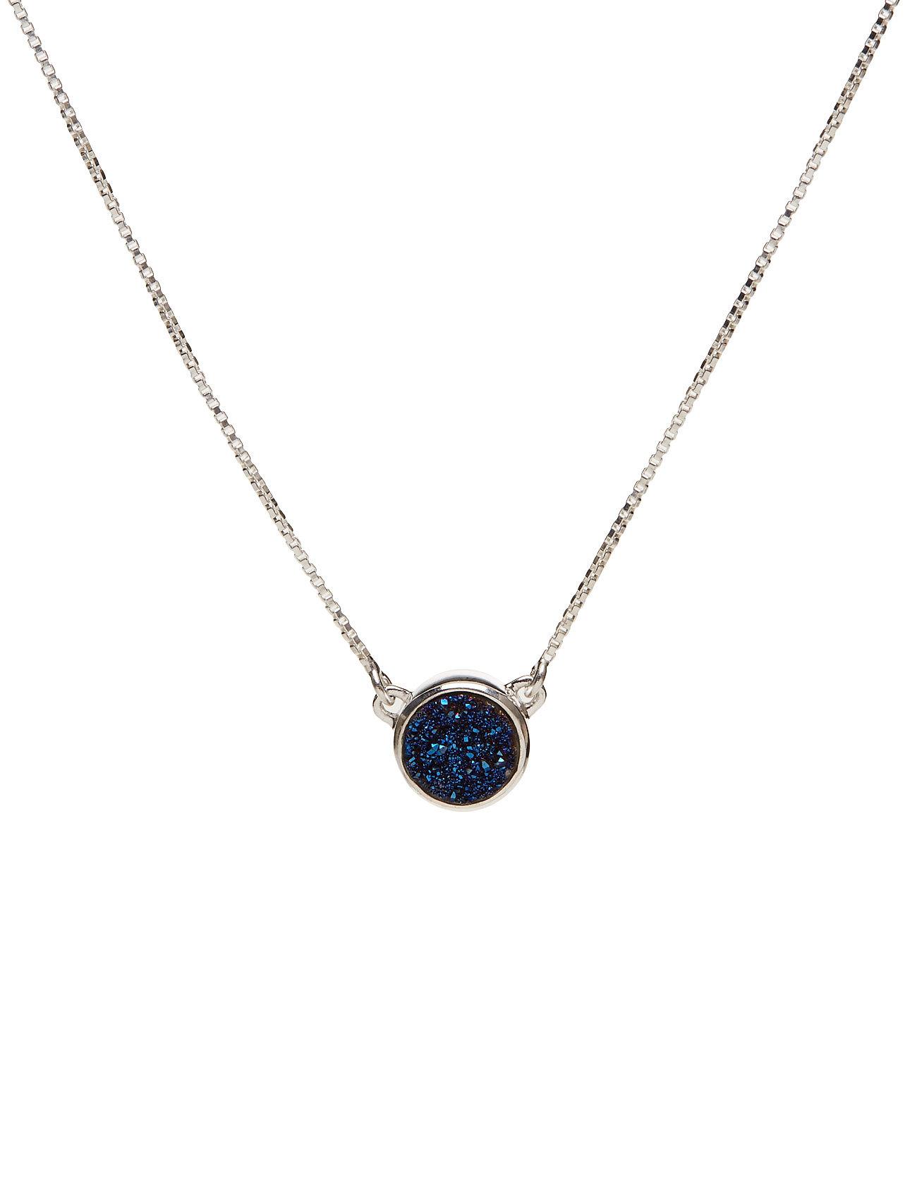 Frances Druzy Necklace Silver Blue Syster P Smykker til Damer i