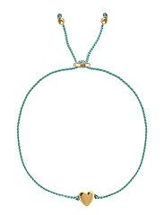 Sparkle Bracelet Heart Gold Aqua - AQUA