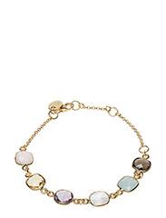 Syster P - Cushion Bracelet Gold Aquamarine