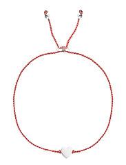 Sparkle Bracelet Heart Silver Coral - CORAL