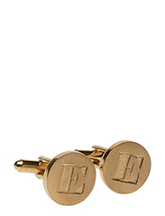 SIGNATURE CUFFLINKS GOLD PAIR - GOLD