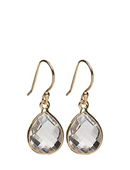 Raindrop Earrings Gold Crystal - GOLD