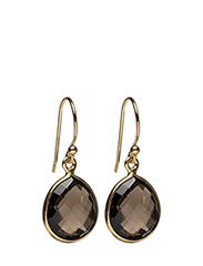 Raindrop Earrings Gold Smokey - GOLD