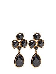 Miss Diva Dangling Earrings Gold Hematite - GOLD