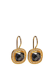 Classy Earrings Hematite - GOLD