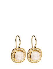 Classy Earrings Pink Opal - GOLD