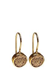 Frances Druzy Earrings Gold Golden - GOLD
