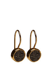 Frances Druzy Earrings Gold Grey - GOLD