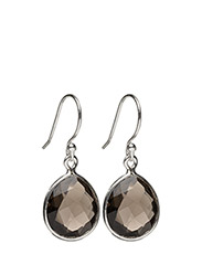 Raindrop Earrings Silver Smokey - SILVER