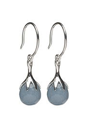 Dripping Eaarings Silver Angelite - SILVER