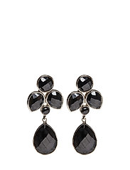 Syster P Miss Diva Dangling Earrings Silver Hematite