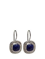 Classy Earrings Lapis - SILVER