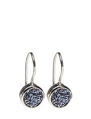 Frances Druzy Earrings Silver Lavender - SILVER