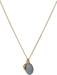 Single Nugget Necklace Gold Angelite - GOLD