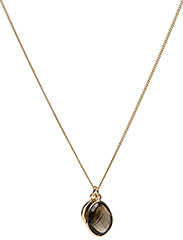 Single Nugget Necklace Gold Smokey - GOLD