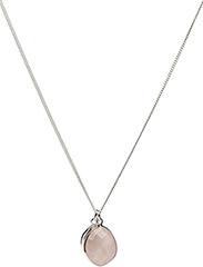 Single Nugget Necklace Silver Rose quartz - SILVER