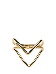 Tiny Arrow Fingertip Ring Gold - GOLD