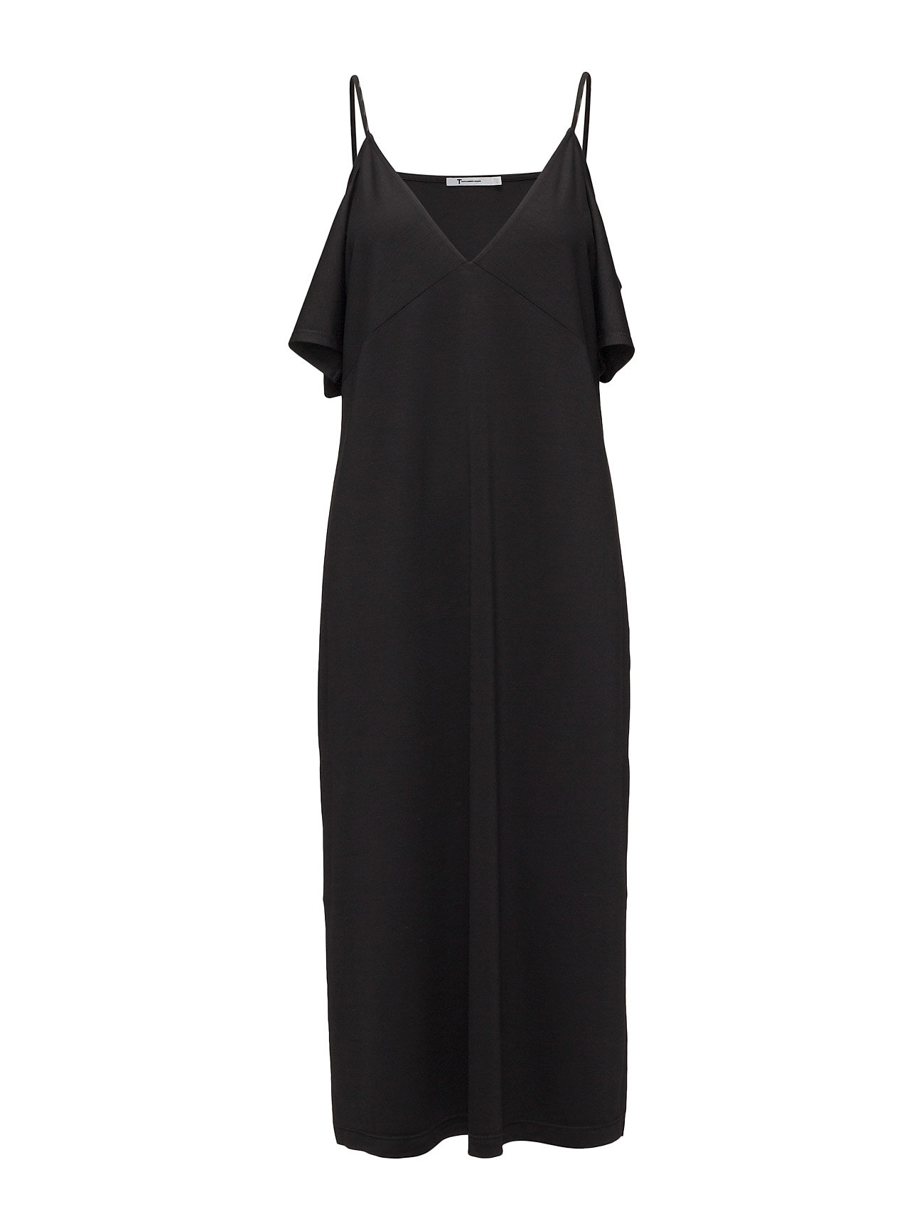 t by alexander wang Lux ponte cold shoulder midi dress with straps fra boozt.com dk